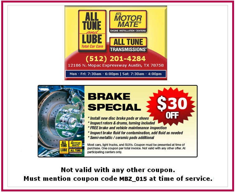 Save $30 on Brake Special
