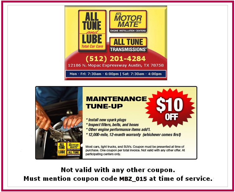 Special Maintenance Tuneup Discount