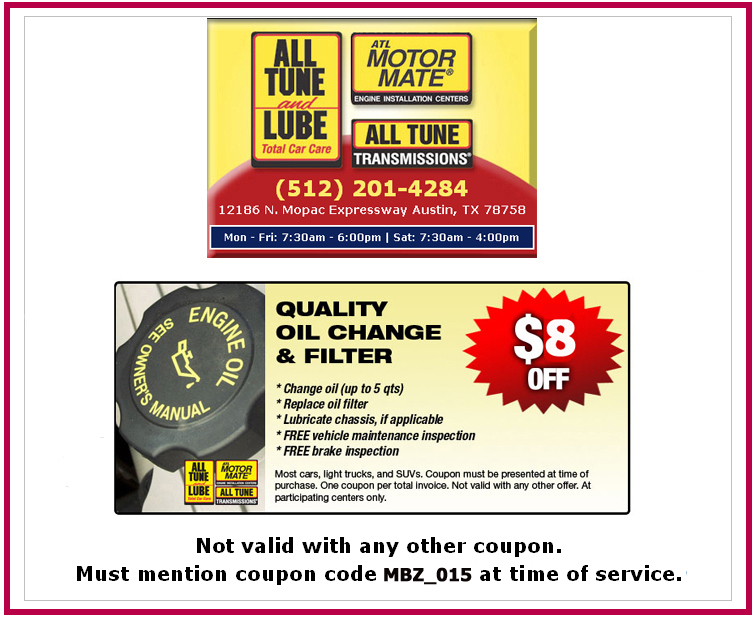 Save $8 on Oil Change